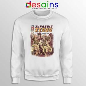 Jurassic Jesus Christmas Sweatshirt Jurassic Park Sweater S-3XL