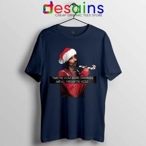 Snoop Dogg on Christmas Navy Tshirt American Rapper Tee Shirts