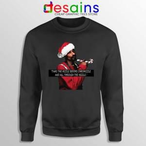 Snoop Dogg on Christmas Sweatshirt American Rapper Sweater