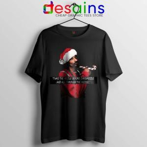 Snoop Dogg on Christmas Tshirt American Rapper Tee Shirts S-3XL