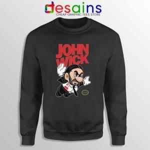 Super John Wick Sweatshirt Super Mario Wick Sweater S-3XL