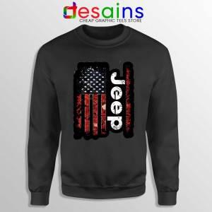 USA Flag Jeep Sweatshirt American Jeep Sweater S-3XL