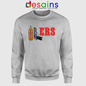 40/9 ERS 40oz 9mm Sport Grey Sweatshirt San Francisco 49ers Sweaters