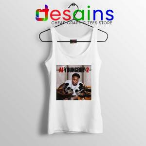 AI YoungBoy 2 Song White Tank Top YoungBoy Never Broke Again Tops