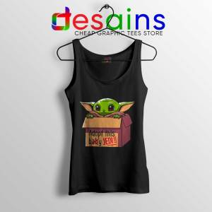 Adopt this Baby Jedi Tank Top Baby Yoda Tops Size S-3XL