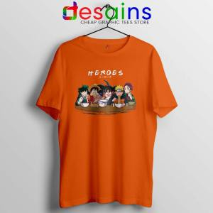 Best Anime Superheroes Orange Tshirt Friends Heroes Tees
