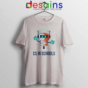 CS in Schools Robot Sport Grey Tshirt Computer Science Tees