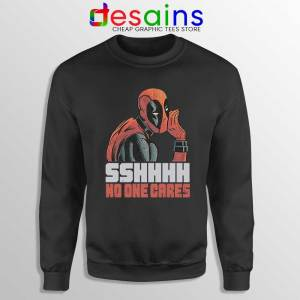 Deadpool No One Cares Sweatshirt Funny Deadpool Sweaters S-3XL