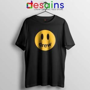 Drew Smile Face Black Tshirt Drew House Tee Shirts S-3XL