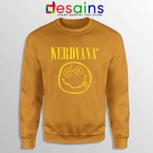 Nerdvana Smiley Orange Sweatshirt Nirvana Smiley Face Sweater