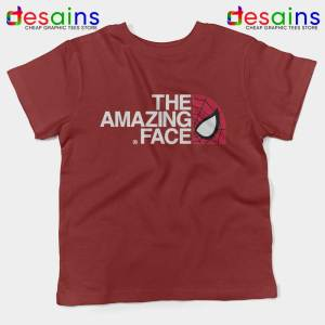 Spider Man The Amazing Face Maroon Kids Tshirt The North Face Youth