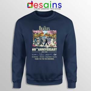 The Beatles 60th Anniversary Navy Sweatshirt The Beatles Merch
