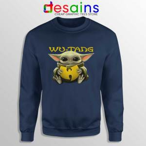 Wu Tang Clan Baby Yoda Navy Sweatshirt The Child Sweater