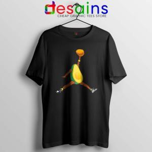 Avocado Air Jordan Black Tshirt Funny Avocado Fruit Tee Shirts