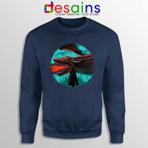 Best Dracarys Dragon Art Navy Sweatshirt Daenerys Targaryen Sweaters