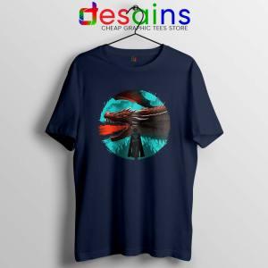 Best Dracarys Dragon Art Navy Tshirt Daenerys Targaryen Tees