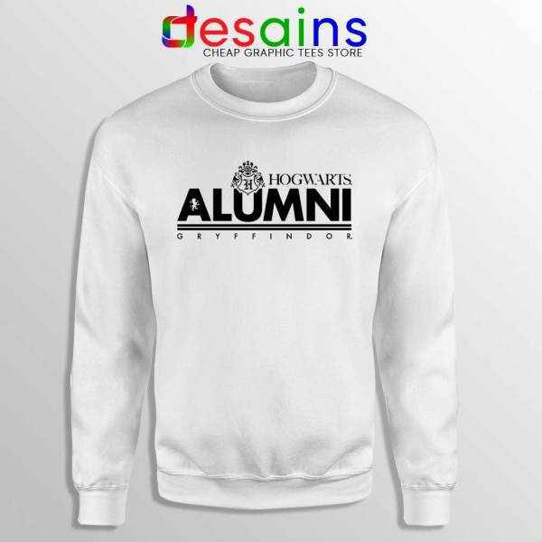 Hogwarts Alumni Gryffindor White Sweatshirt Harry Potter Sweaters