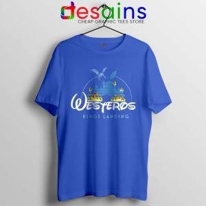 Westeros Kings Landing Disney Blue Tshirt Game of Thrones Tees