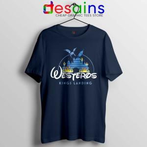 Westeros Kings Landing Disney Navy Tshirt Game of Thrones Tees