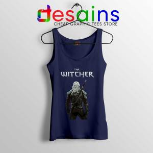 Witcher Monster Hunter Navy Tank Top Merch The Witcher Tops