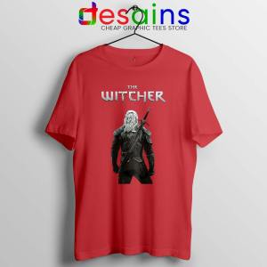 Witcher Monster Hunter Red Tshirt Merch The Witcher Tees