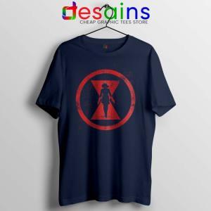 Black Widow Red Room Navy Tshirt Marvel Cinematic Tee Shirts