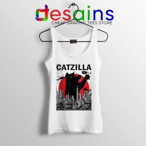 Funny Catzilla Godzilla Tank Top King of the Monsters Cats Tops S-3XL