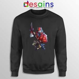 Rust Lord Fortnite Black Sweatshirt Epic Outfit Battle Royale Sweaters