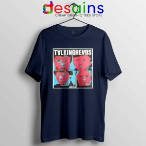 Talking Heads Band Navy Tshirt Psycho Killer Song Tees