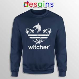 The Witcher Three Stripes Logo Navy Sweatshirt Netflix TV Series