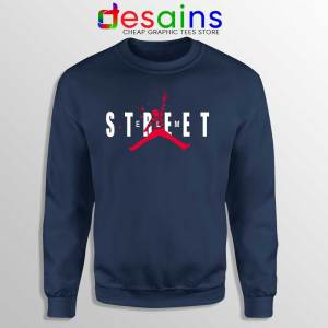 Freddy Air Krueger Navy Sweatshirt A Nightmare on Elm Street Sweaters