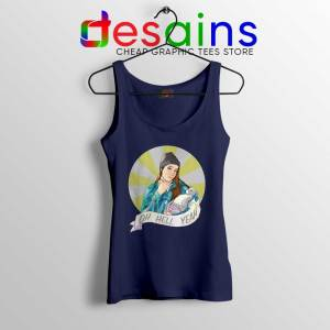 Jenna Marbles Oh Hell Yeah Navy Tank Top Madonna and Child Tops