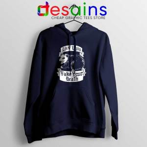 Live Ugly Fake Your Death Navy Hoodie Mouse Rat Jacket S-2XL