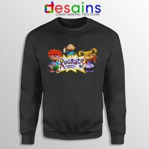 Rugrats Distressed Black Sweatshirt Rugrats Distressed Sweaters S-3XL