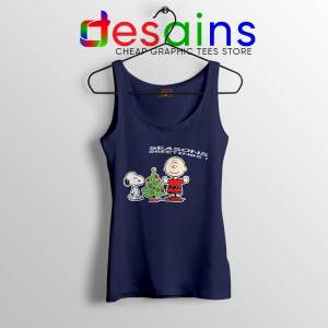 Snoopy And Charlie Brown Christmas Navy Tank Top Holiday Gifts Tops