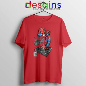 Spider Man Dj Marvel Comics Red Tshirt Peter Parker Tees