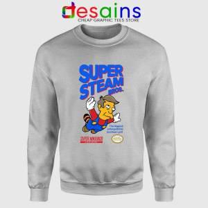 Super Simpsons Bros Sport Grey Sweatshirt Super Mario Nintendo Sweaters
