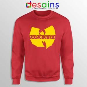 Wuhan Clan Covid 19 Red Sweatshirt Coronavirus Wu-Tang Clan Sweaters