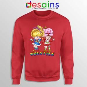 Besties Forever Girls Red Sweatshirt Best Friend Sweaters S-3XL