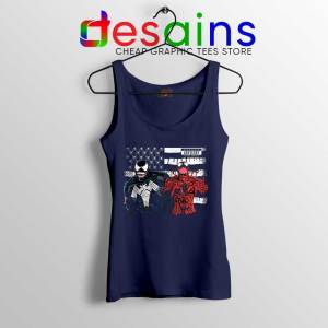 Venom And Spider Man Navy Tank Top Were Sorry Ms Parker Tops