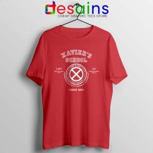 Xavier Institute X Mansion Red Tshirt X-Men Merch Tees