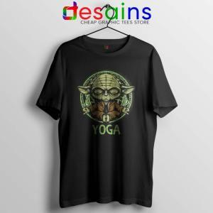 Yoga Master Yoda Tshirt Star Wars Clothing Tee Shirts S-3XL