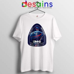 Crew Dragon Demo Fight White Tshirt SpaceX Dragon 2 Tee Shirts