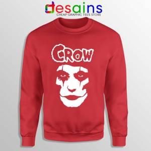 Misfits Joker Face Red Sweatshirt Skull Misfits Rock Band Sweaters