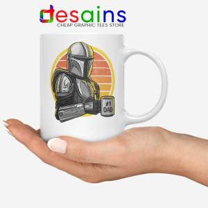 Galaxys Best Dad White Mug Funny The Mandalorian Coffee Mugs 11oz