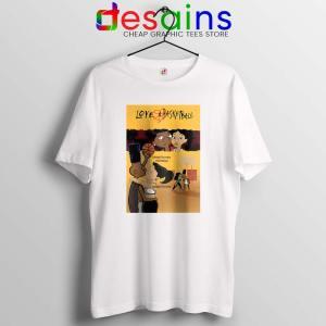 Love and Baskbetball White Tshirt Sports Romantic Tees