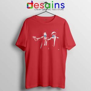 Pulp Fiction Covid19 Red Tshirt Covid Fiction Film Tee Shirts
