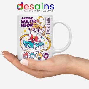 Sailor Moon Meow Mug Funny Sailor Cat Coffee Mugs 11oz
