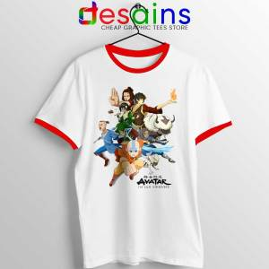 The Gaang Avatar Red Ringer Tee The Last Airbender Ringer