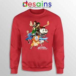 The Gaang Avatar Red Sweatshirt The Last Airbender Sweaters